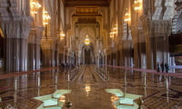 inside view of Hassan II mosque in Casablanca Morocco