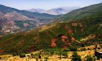 excursion from Fes to Middle Atlas Mountains Morocco landscape