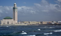 view of Hassan II mosque in Casablanca Morocco