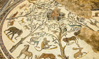 ancient mosaic Roman Ruins Volubilis excursion from Fes Morocco