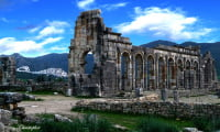 Roman ruins in Volubilis excursion from Fes Morocco UNESCO World Heritage site
