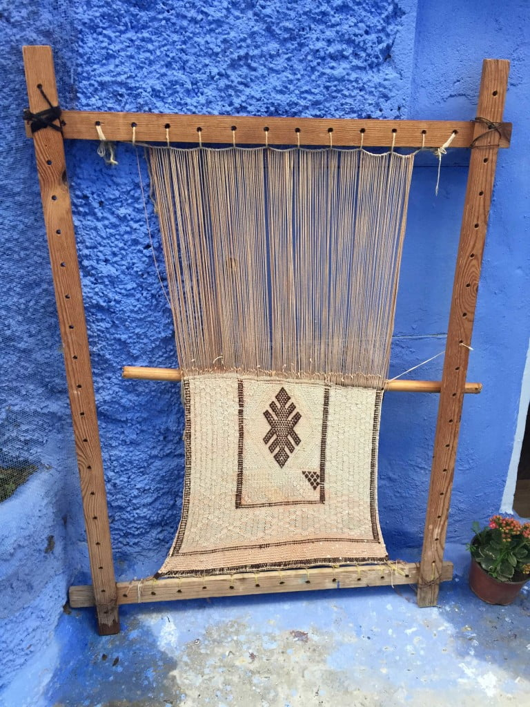 Traditional Loom Berber Wool Rugs Rif Mountains Chefchaouen Morocco