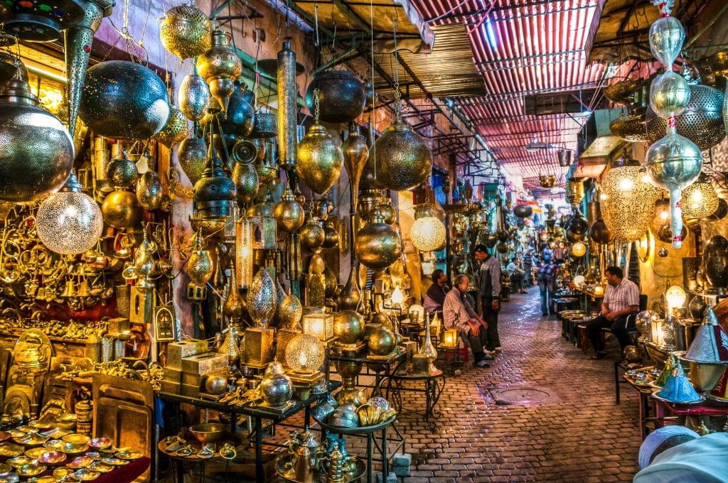 Addadine Metal Souk Medina Marrakech Morocco